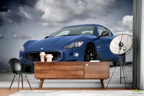 Каталог фотообоев Фотообои Синяя машина