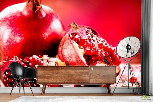 Фотошпалери, колір: «червоний» Гранат