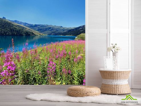 обои Природа Фотообои Горное озеро