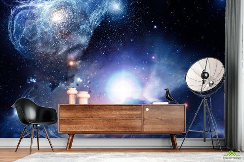 Космос Фотообои космос с яркой звездой