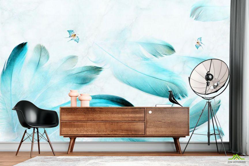Фотообои Принт с перьями