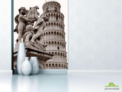 Серые обои Фотообои Пизанская башня