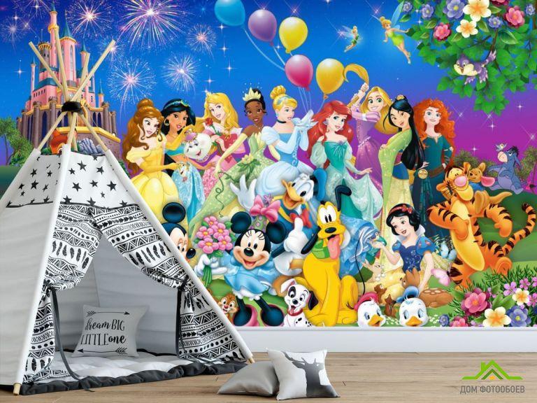 Фотообои Все принцессы у замка