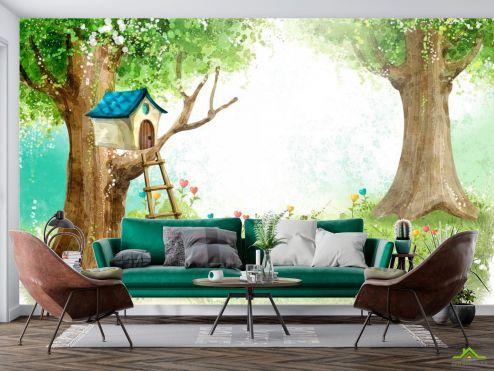 Иллюстрации Фотообои Домик на дереве