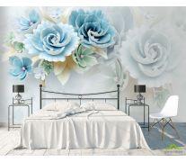 Фотообои Бирюзовые керамические цветы