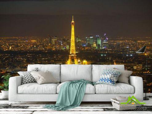 Париж Фотообои ночной Париж