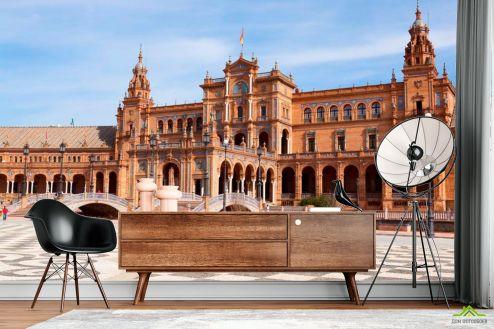 Дворцы и соборы Фотообои Площадь в Испании