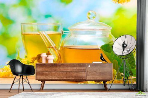Еда и напитки Фотообои Чай, липа купить