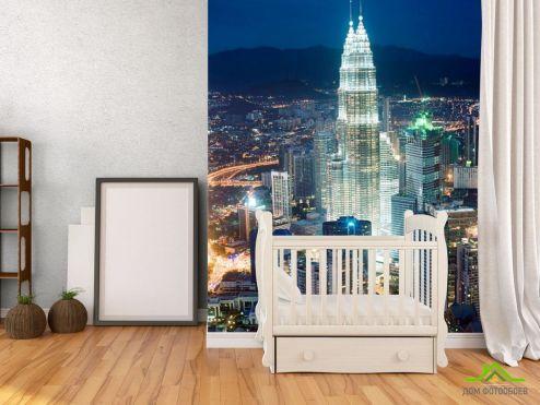 обои Нью Йорк Фотообои Многоэтажки в центре Нью-Йорка