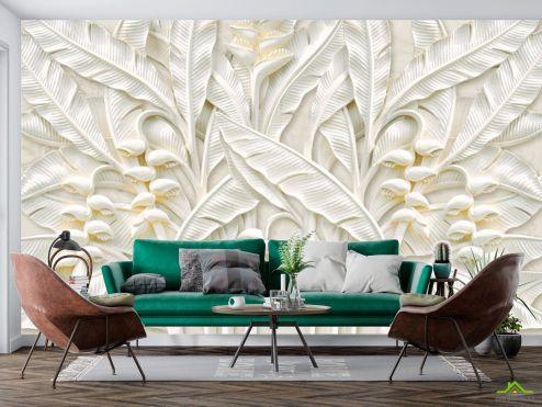 3Д  Фотообои Гипсовые листья