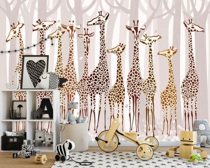 Фотообои Жирафы