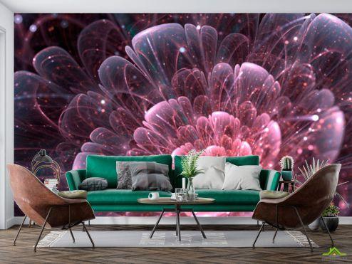 3Д  Фотообои Абстракционный цветок купить