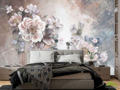фотошпалери в спальню Фотошпалери дизайнерські квіти