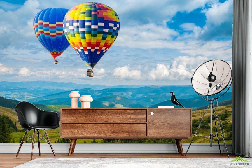 Фотообои воздушные шары в горах