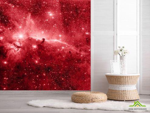 обои Космос Фотообои красный космос