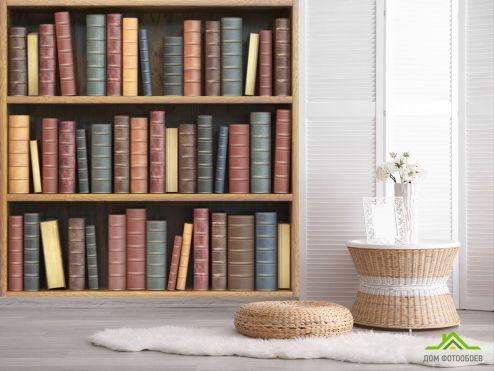 обои лофт Фотообои Книжные полки