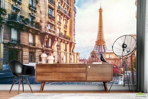 Париж Фотообои старая улица Парижа