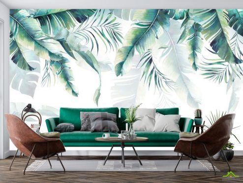 тропические листья Фотообои Тропические листья с потолка