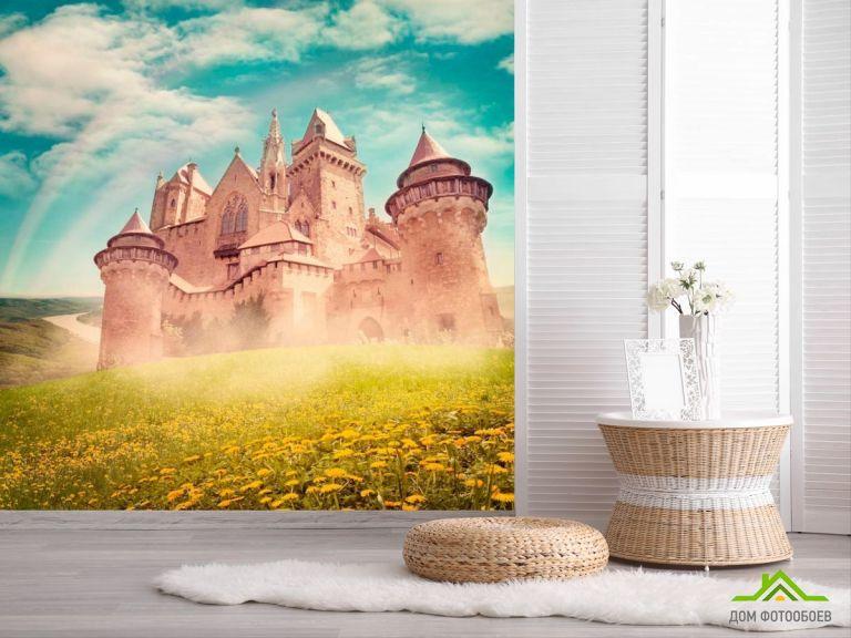 Фотообои Замок посреди поля