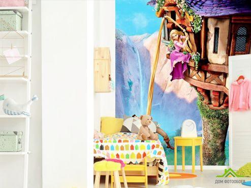 обои в детскую Фотообои Рапунсель и башня