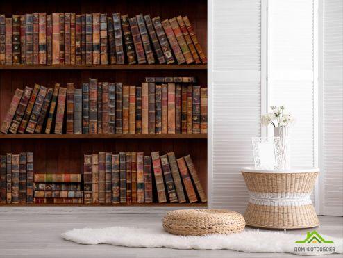 Фотообои Полка с книгами