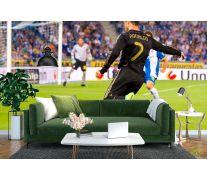 Фотообои Роналдо атакует ворота