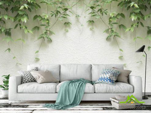 обои тропические листья Фотообои Листья с потолка