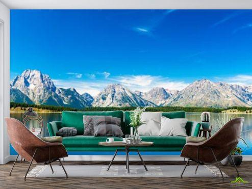 Фотообои Природа по выгодной цене Фотообои синее озеро возле гор