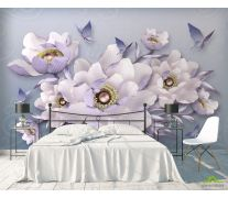 Фотообои 3д цветы
