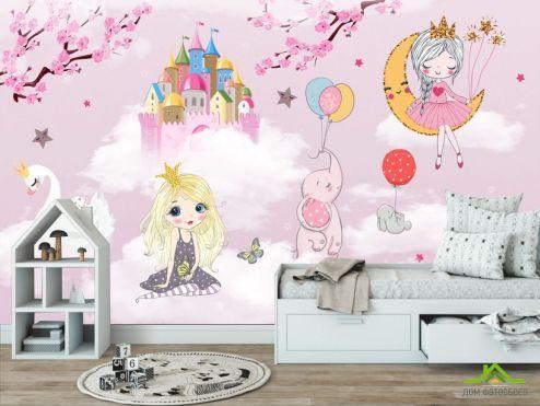 Little kids Фотообои Розовые принцессы