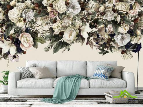 Фотообои Цветы по выгодной цене Фотообои Винтажные цветы