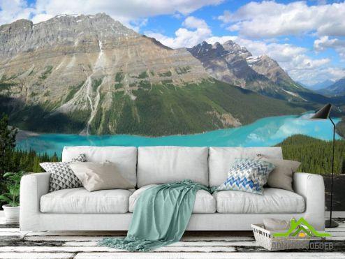 обои Горы Фотообои Озеро в горах