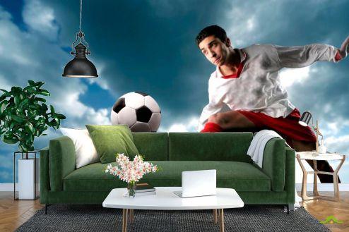 Каталог фотообоев Фотообои Футболист с мячом
