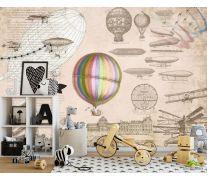 Фотообои Винтажный воздушный шар