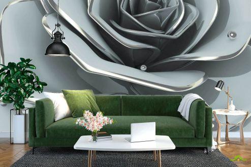 3Д барельеф Фотообои Цветок барельеф