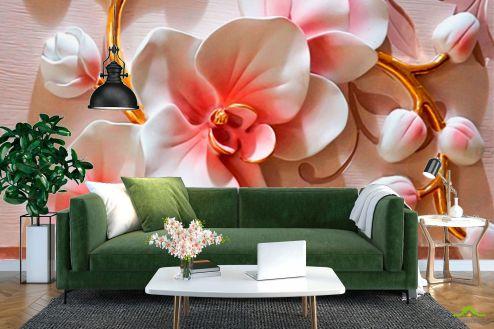 3Д  Фотообои Керамические орхидеи