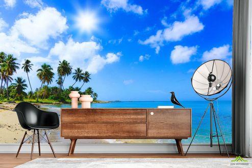 Природа Фотообои Море и пальмы купить
