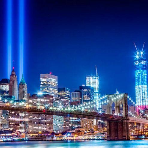 Мосты Фотообои Яркий  город, мост  купить