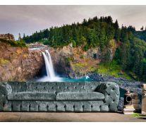 Фотообои водопад в горах в лесу