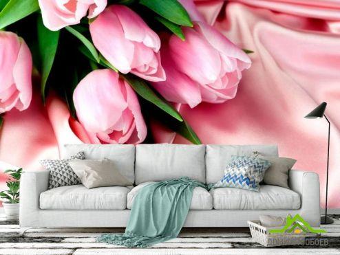 Тюльпаны Фотообои Розовые тюльпаны купить
