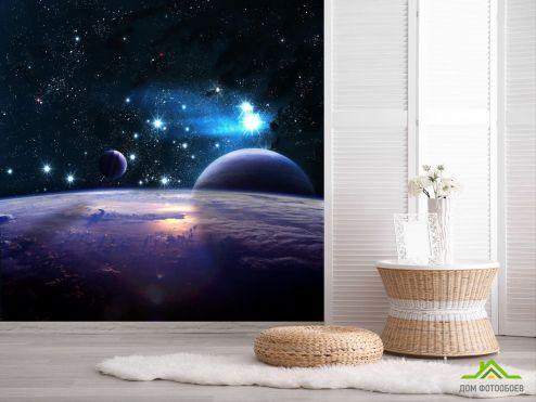 обои Космос Фотообои Земля из космоса и планеты