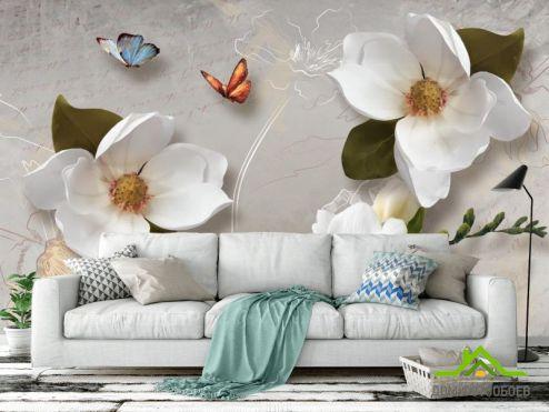 3Д обои Фотообои 3 д цветы