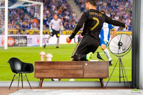 Спорт Фотообои Роналдо атакует ворота