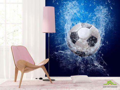 Каталог фотообоев Фотообои Мяч в воде