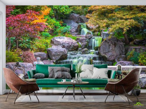 по выгодной цене Фотообои Водопад в японском саду