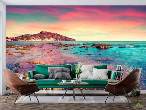 Фотообои Природа по выгодной цене Фотообои розовое море и небо
