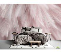 Фотообои Перья розовые