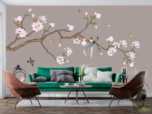 Восточный стиль Фотообои Веткая в японском стиле