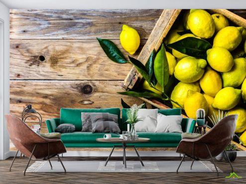 Еда и напитки Фотообои лимоны
