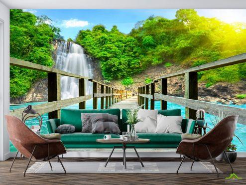 Расширяющие пространство Фотообои Дорога к водопаду